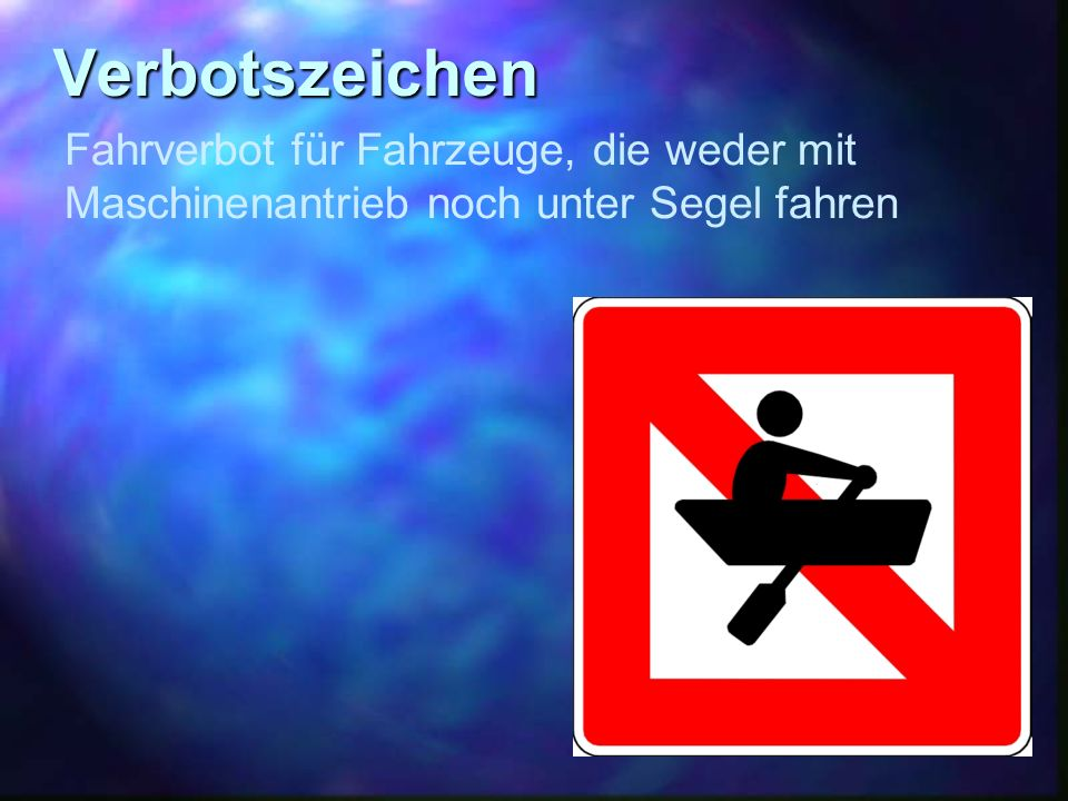 Verbotszeichen Fahrverbot für Fahrzeuge, die weder mit