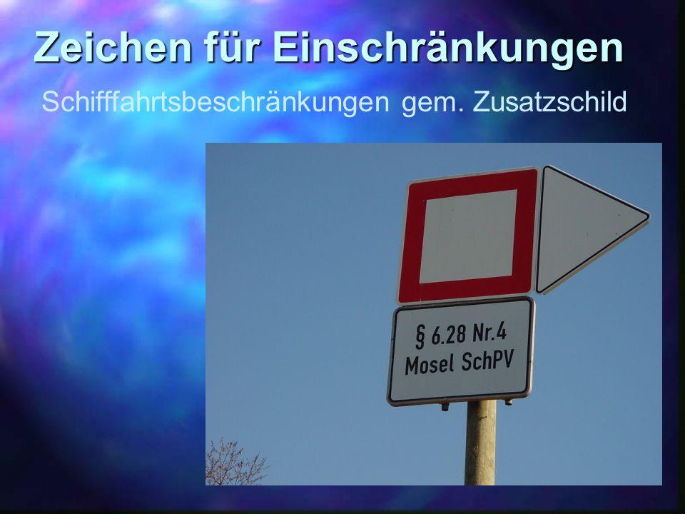 Zeichen für Einschränkungen