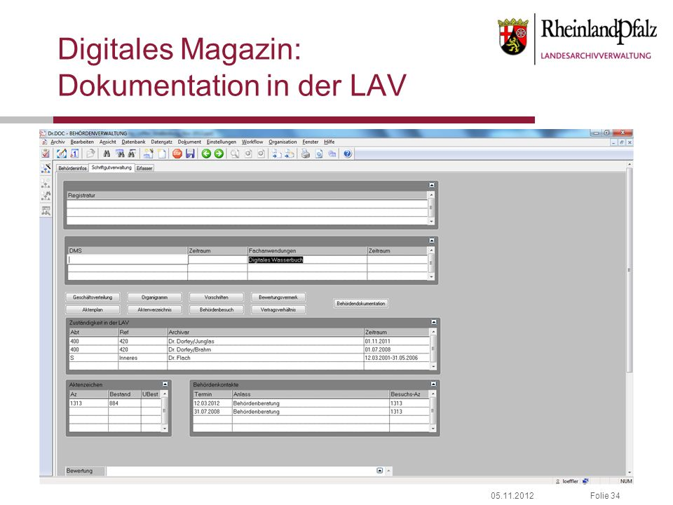 Digitales Magazin: Dokumentation in der LAV