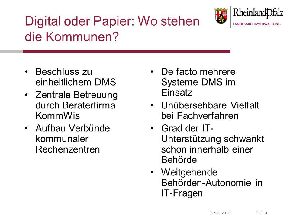 Digital oder Papier: Wo stehen die Kommunen