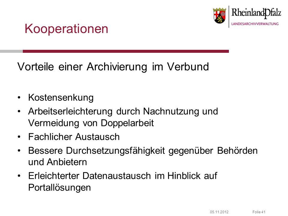 Kooperationen Vorteile einer Archivierung im Verbund Kostensenkung