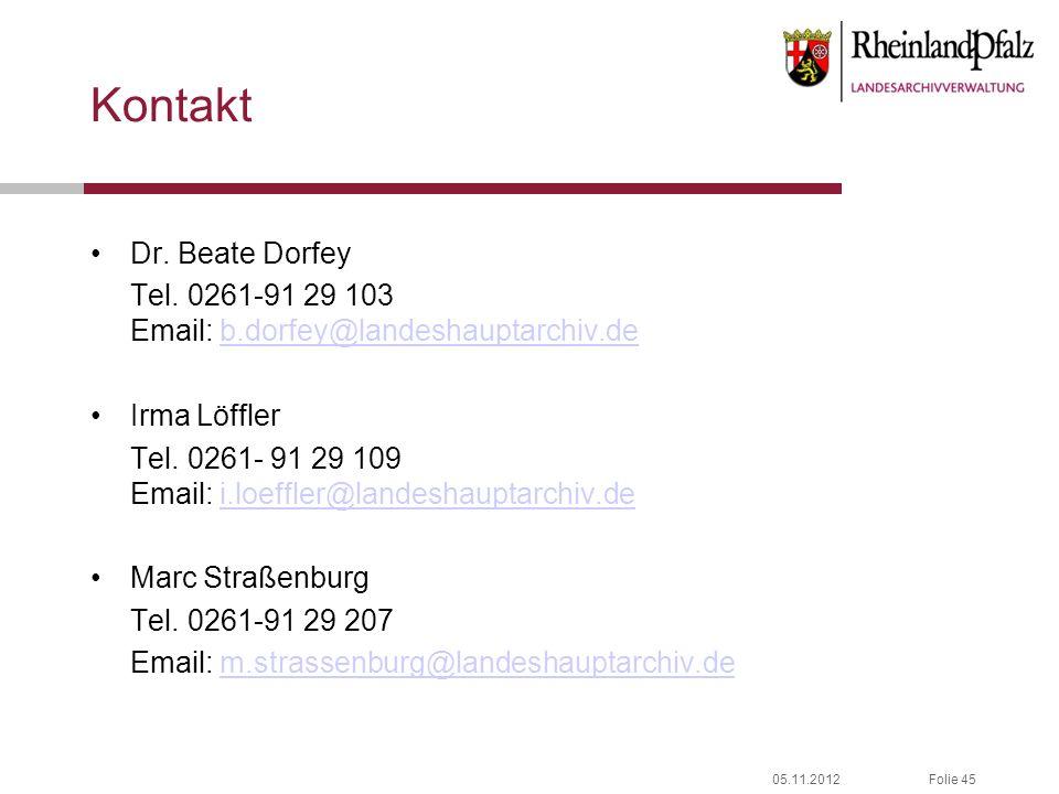 Kontakt Dr. Beate Dorfey