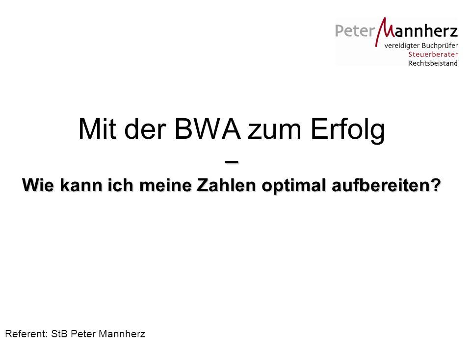 Referent: StB Peter Mannherz