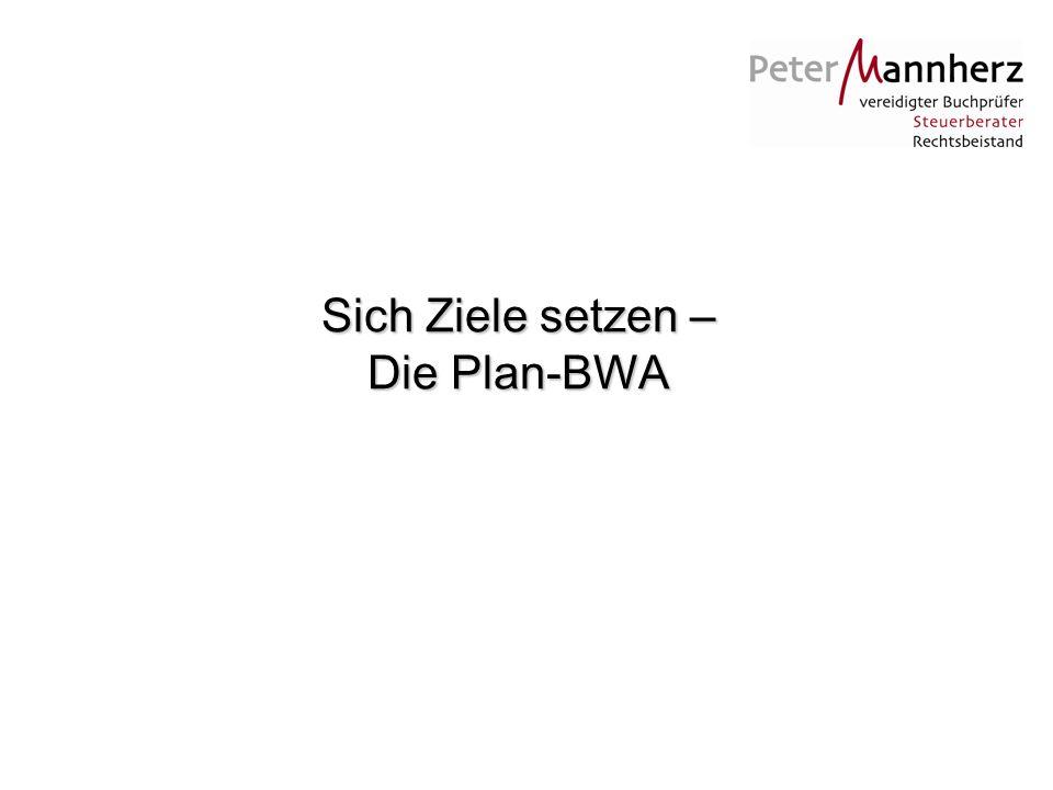 Sich Ziele setzen – Die Plan-BWA