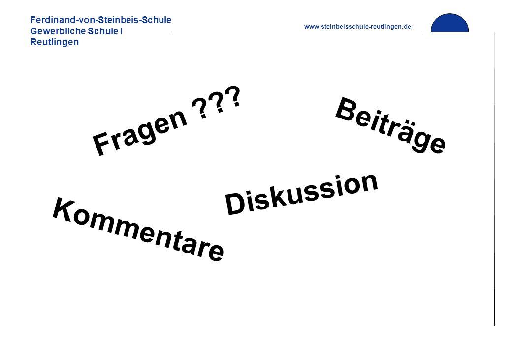 Fragen Beiträge Diskussion Kommentare