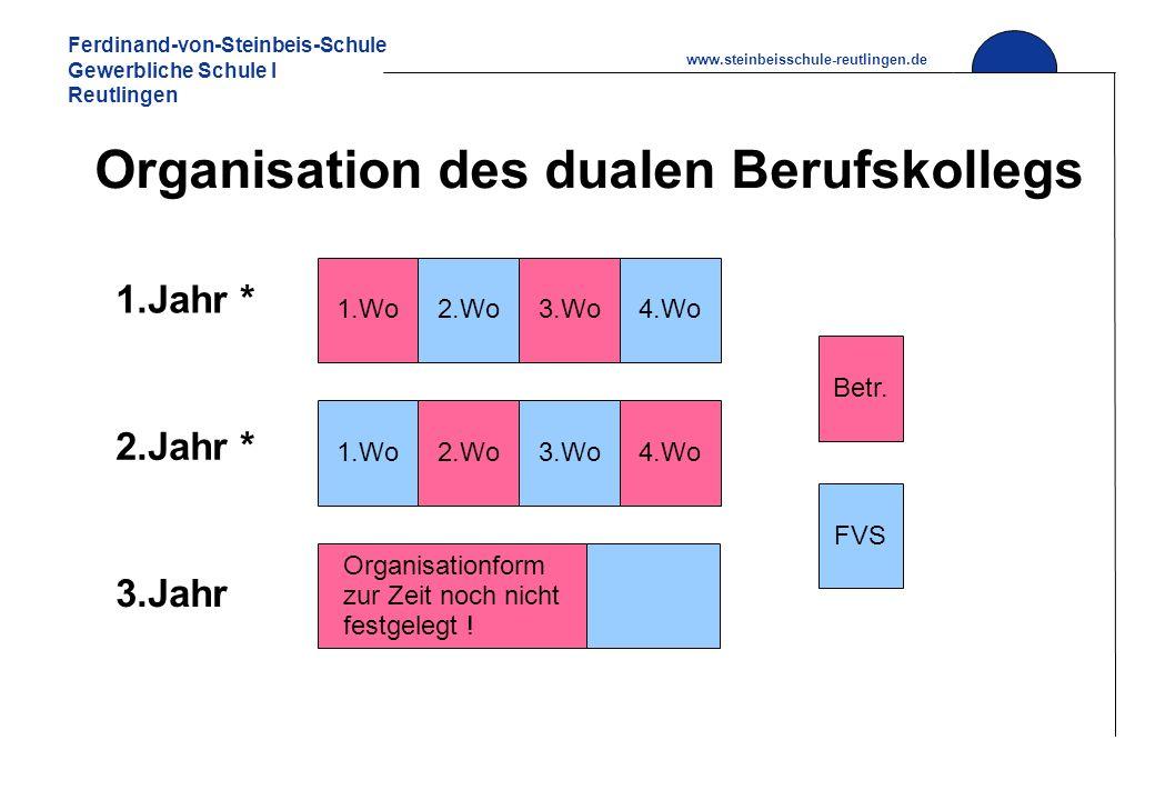 Organisation des dualen Berufskollegs