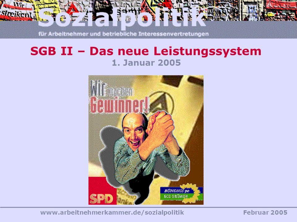 SGB II – Das neue Leistungssystem 1. Januar 2005