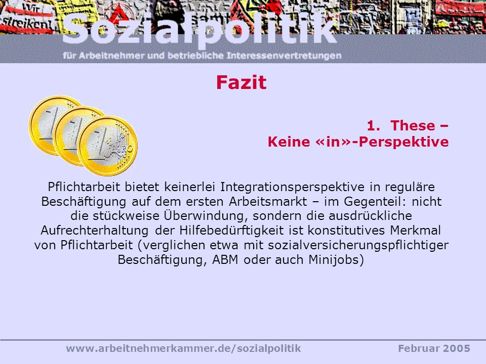 Fazit These – Keine «in»-Perspektive
