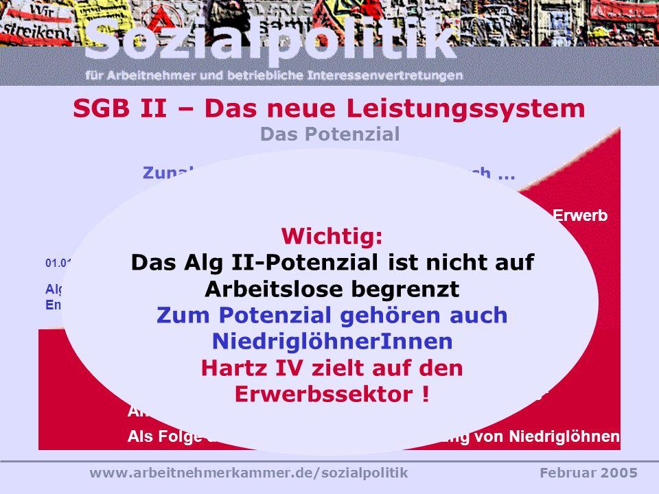 SGB II – Das neue Leistungssystem Das Potenzial