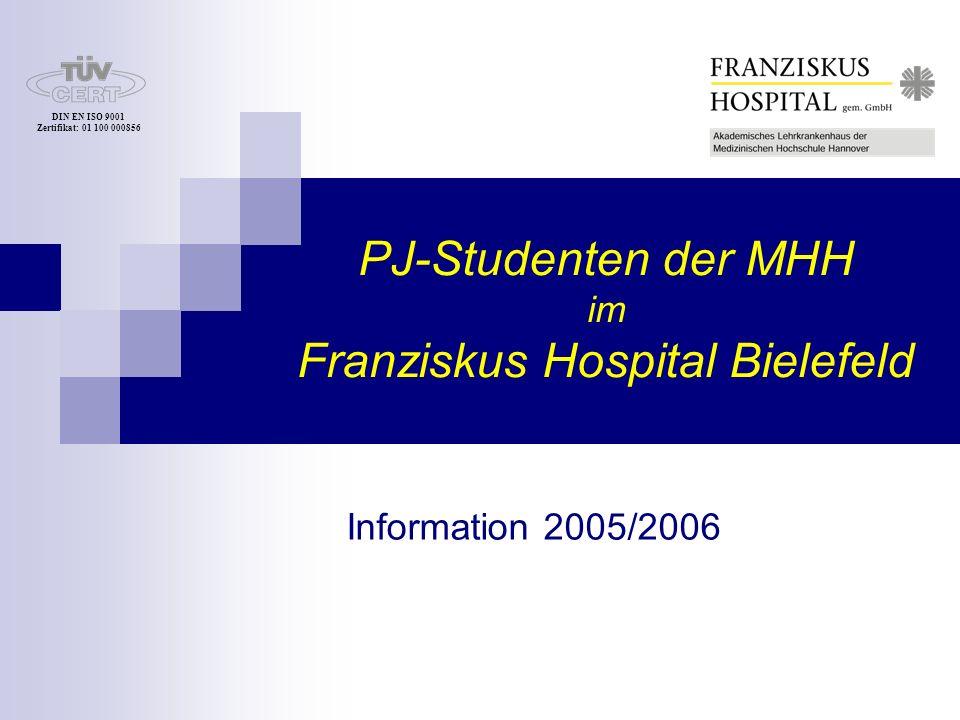 PJ-Studenten der MHH im Franziskus Hospital Bielefeld