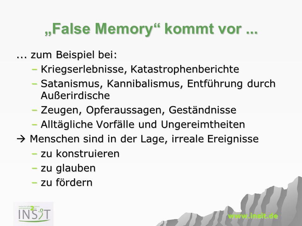 """""""False Memory kommt vor ..."""