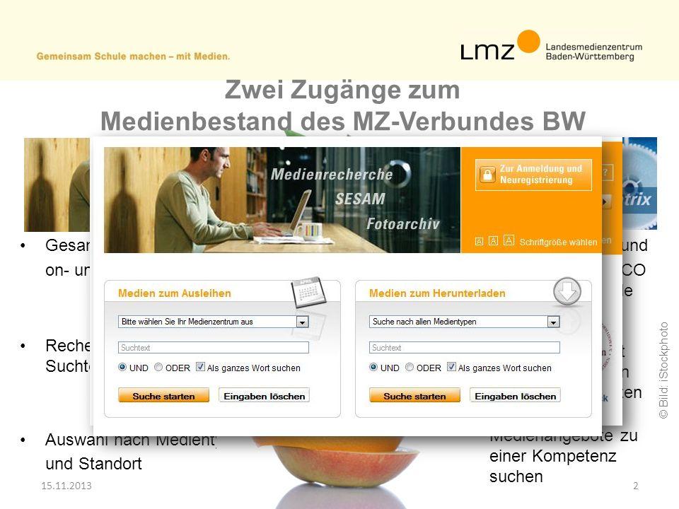 Medienbestand des MZ-Verbundes BW Medien zum Herunterladen: