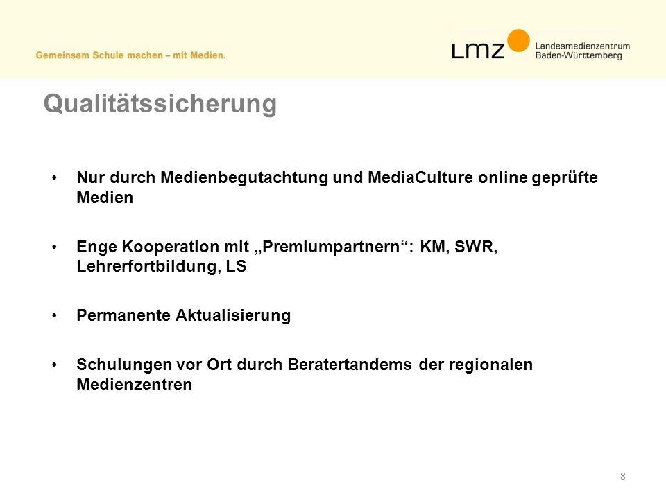 Qualitätssicherung Nur durch Medienbegutachtung und MediaCulture online geprüfte Medien.