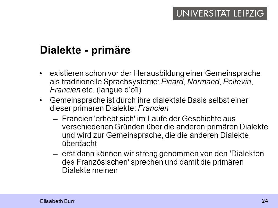 Dialekte - primäre