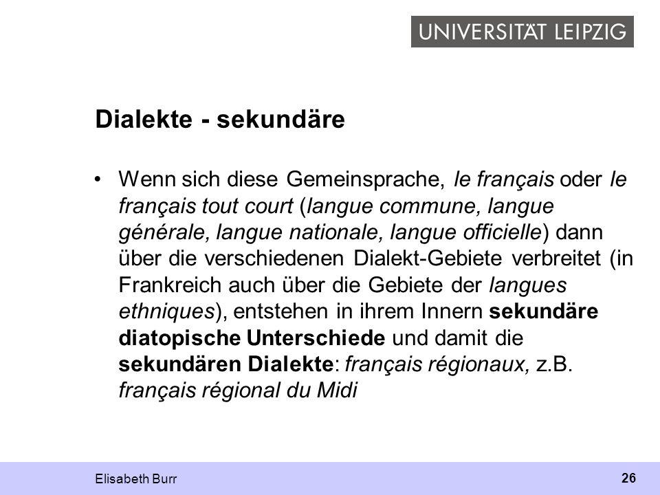 Dialekte - sekundäre
