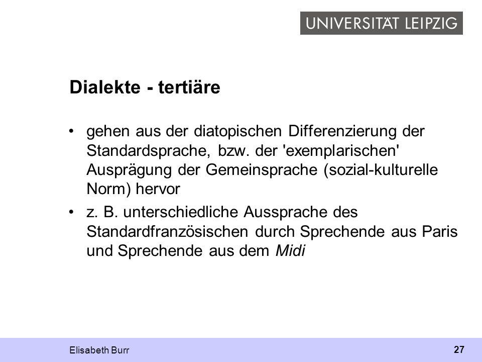 Dialekte - tertiäre