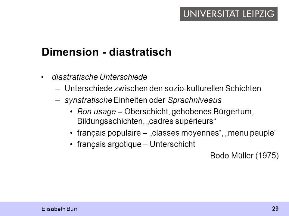 Dimension - diastratisch