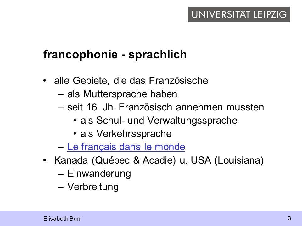 francophonie - sprachlich