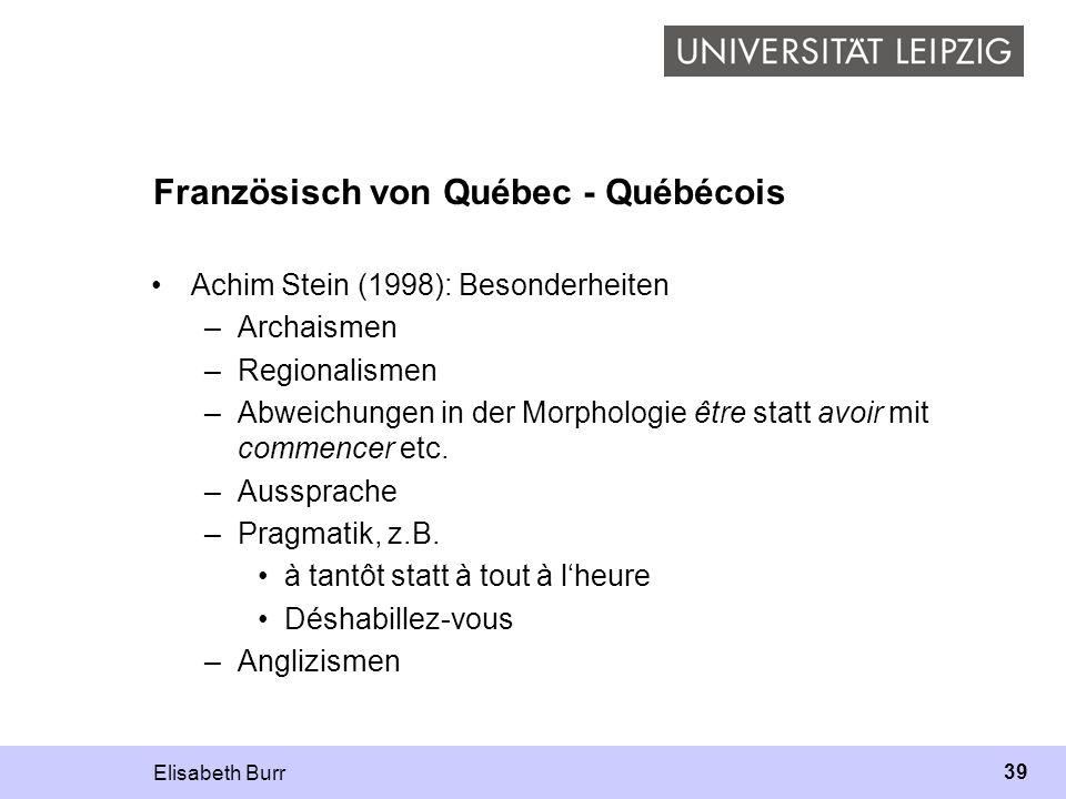 Französisch von Québec - Québécois