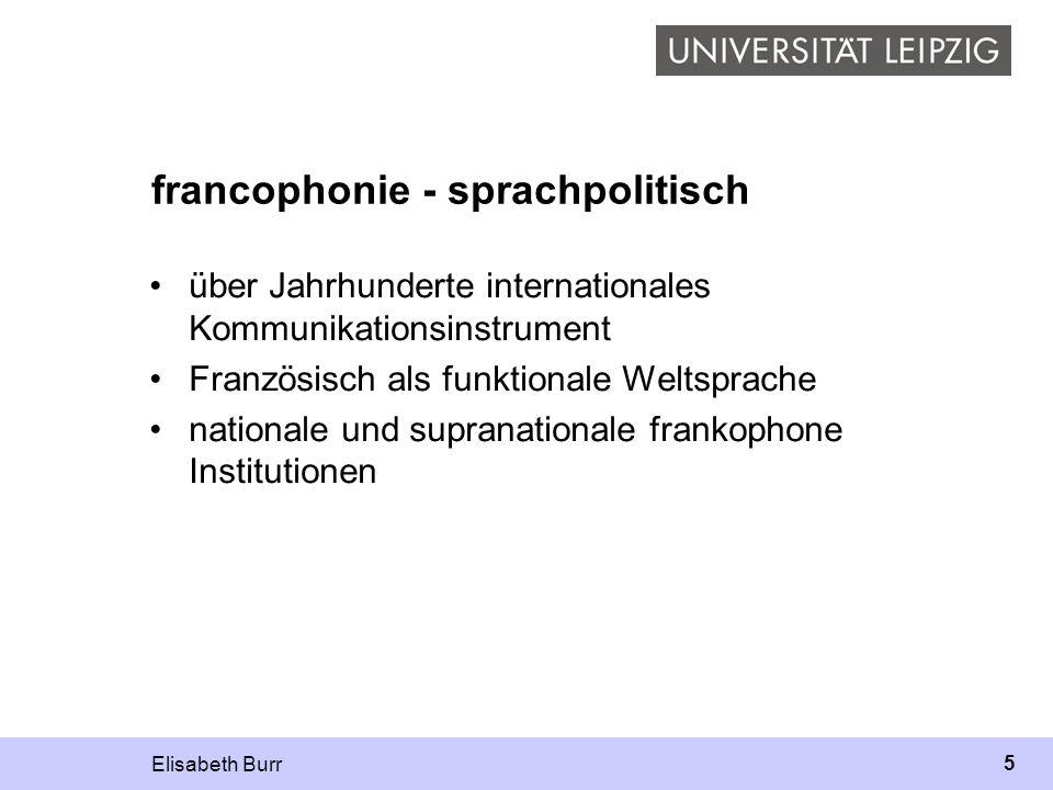 francophonie - sprachpolitisch
