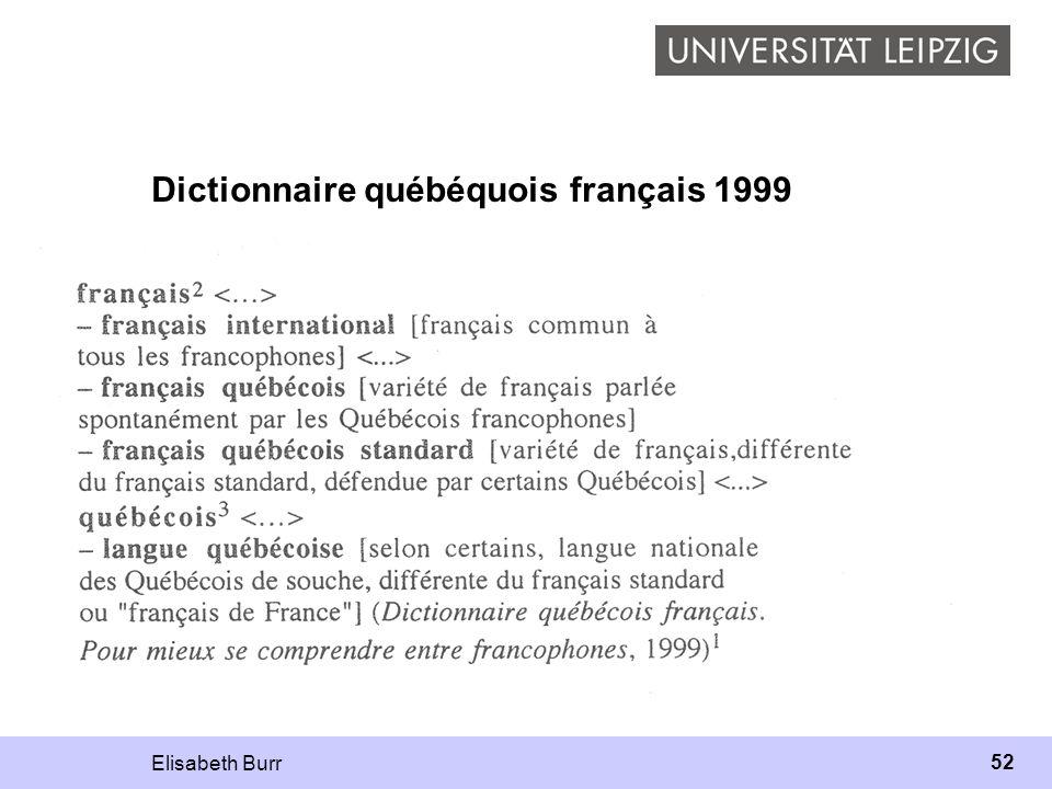 Dictionnaire québéquois français 1999