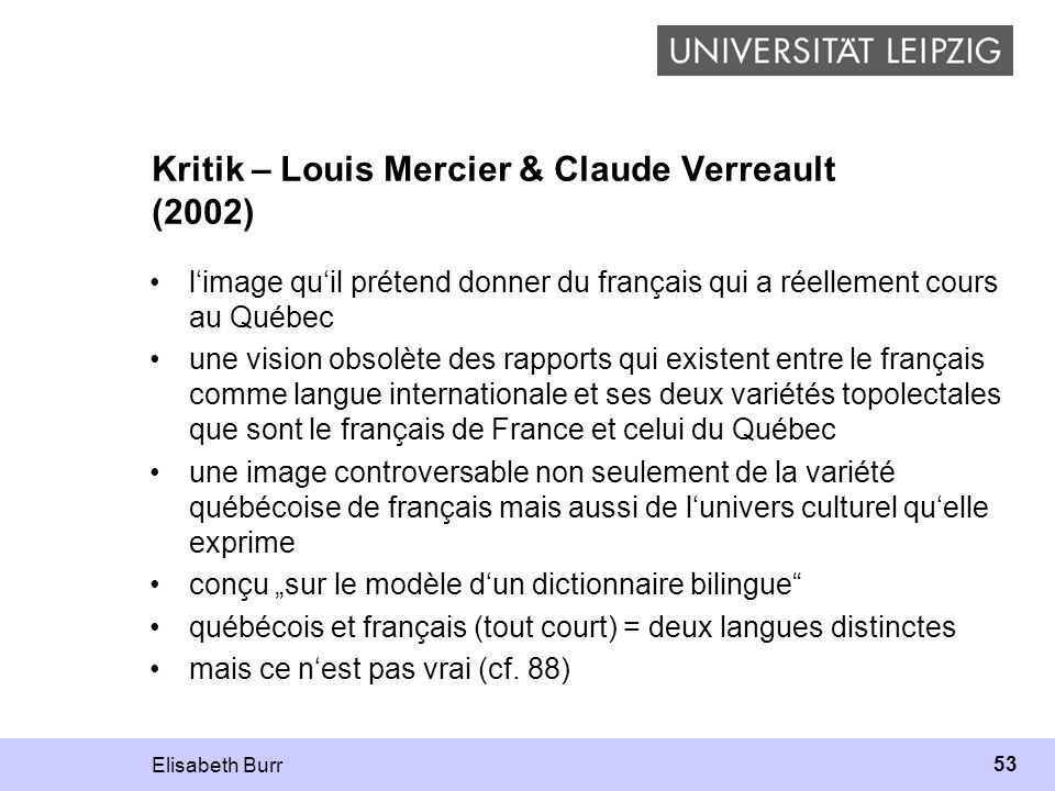 Kritik – Louis Mercier & Claude Verreault (2002)