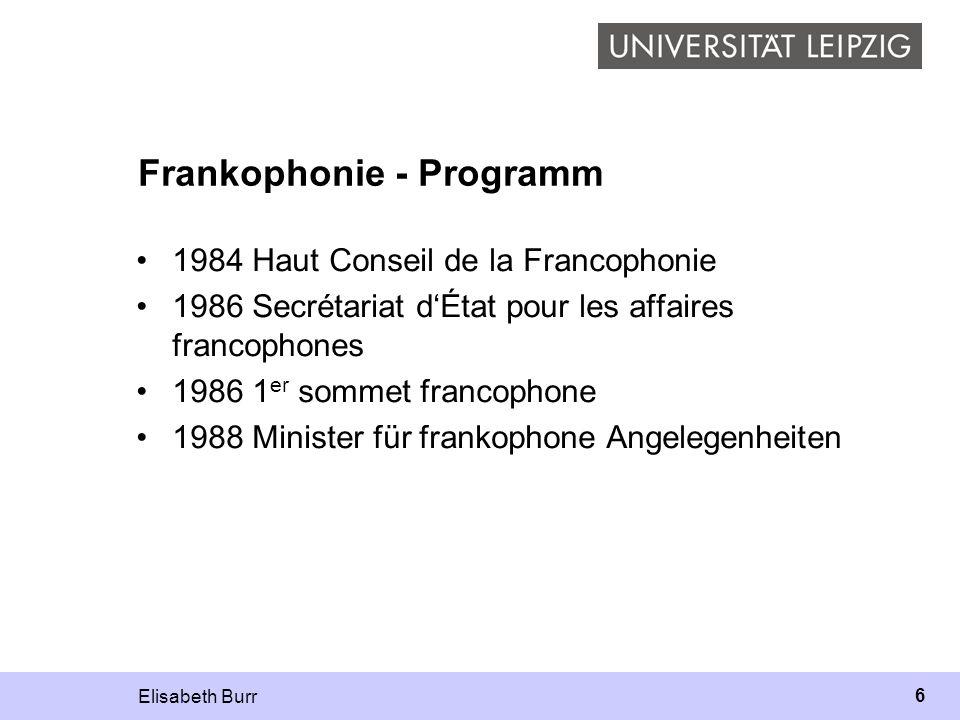 Frankophonie - Programm