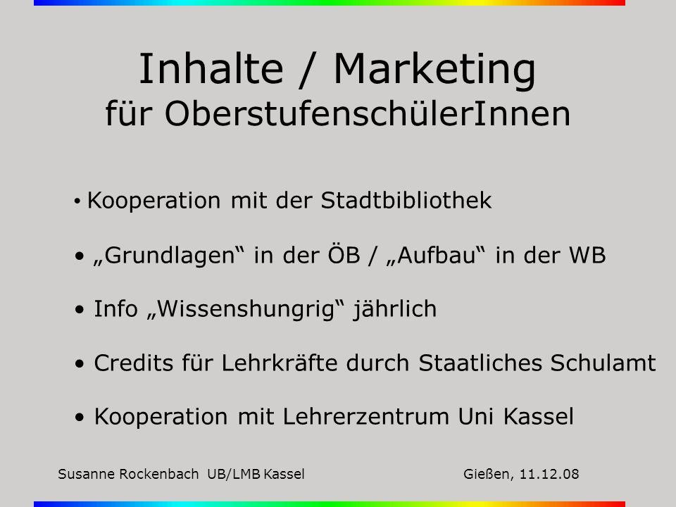Inhalte / Marketing für OberstufenschülerInnen