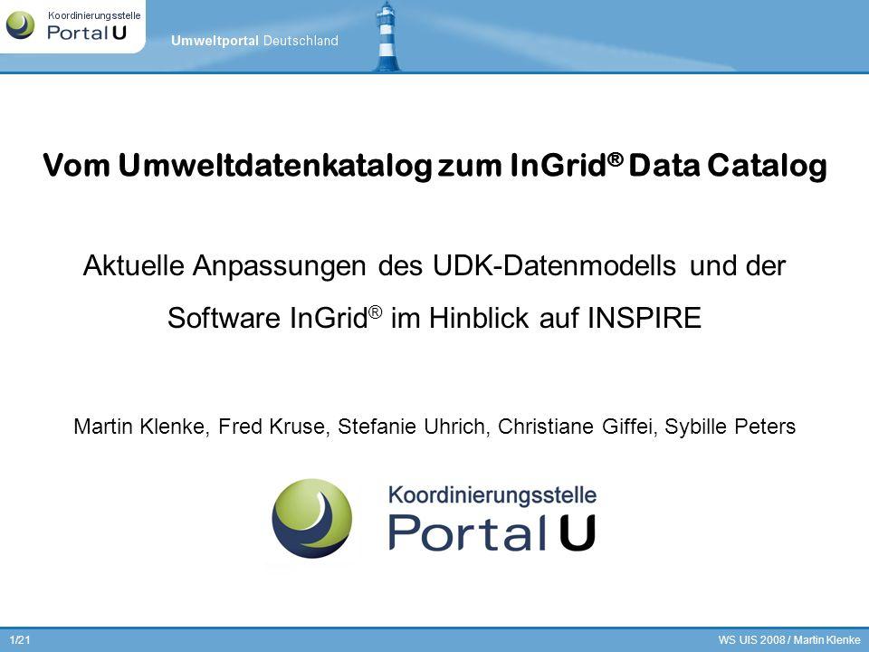 Vom Umweltdatenkatalog zum InGrid® Data Catalog