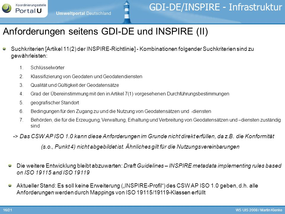 GDI-DE/INSPIRE - Infrastruktur