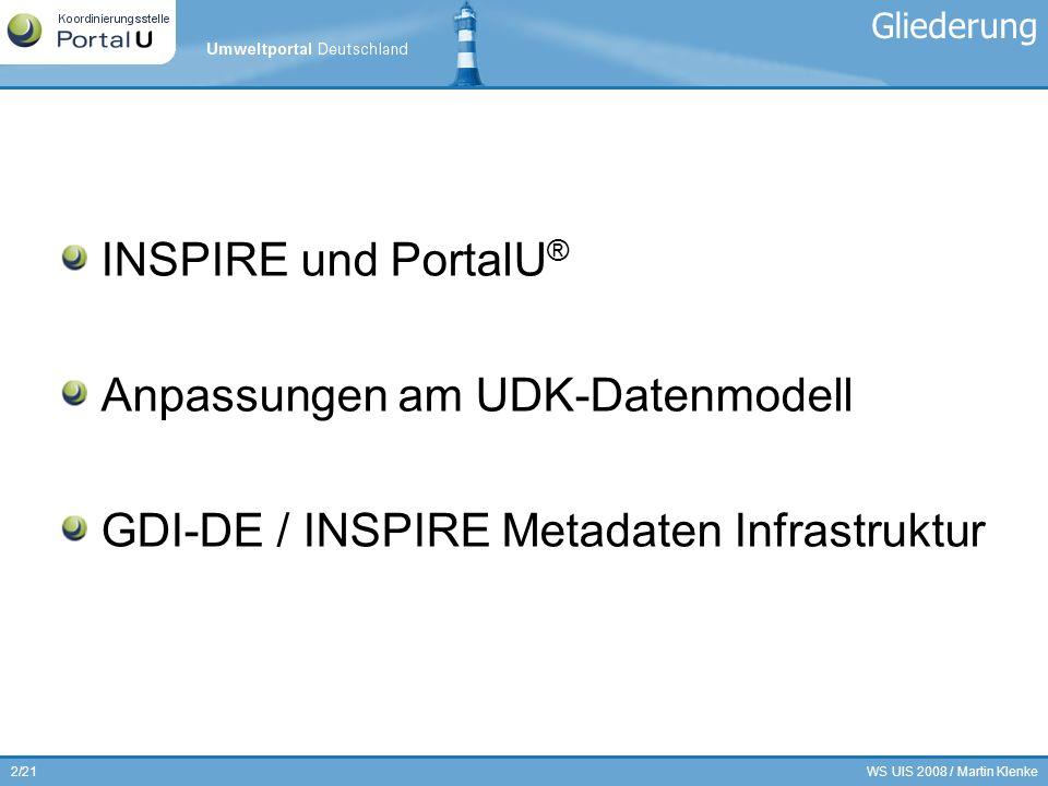 Anpassungen am UDK-Datenmodell