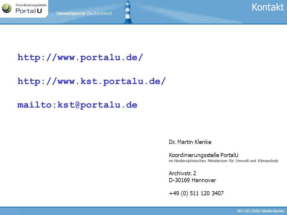 Kontakt http://www.portalu.de/ http://www.kst.portalu.de/