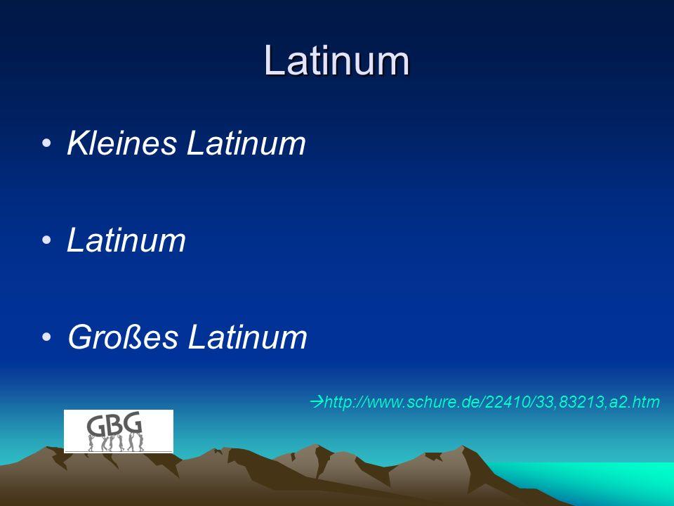 Latinum Kleines Latinum Latinum Großes Latinum