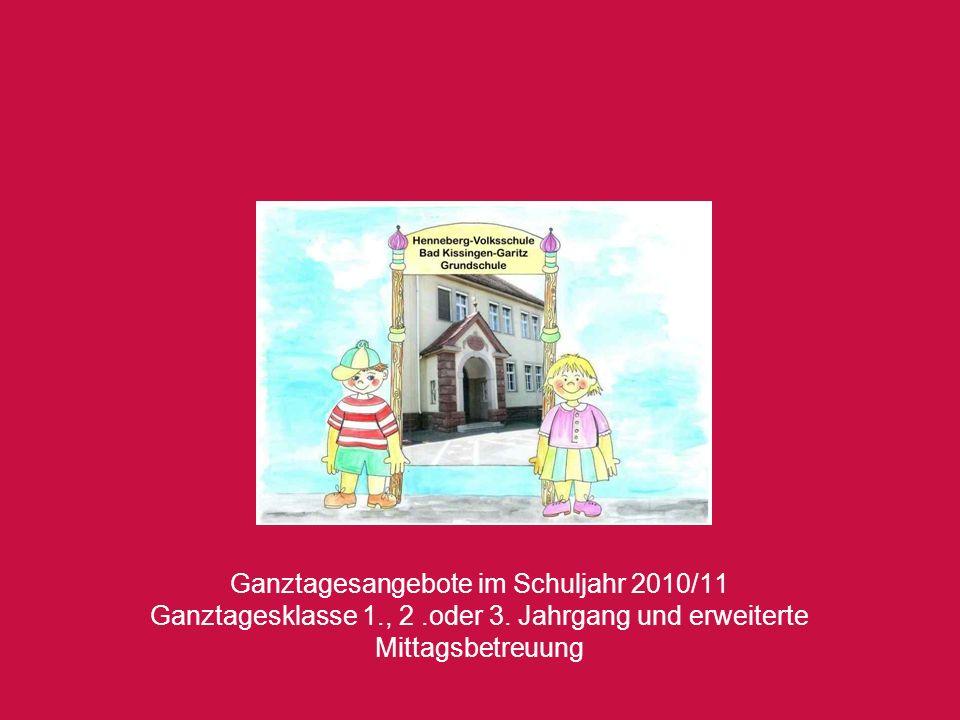 Ganztagesangebote im Schuljahr 2010/11