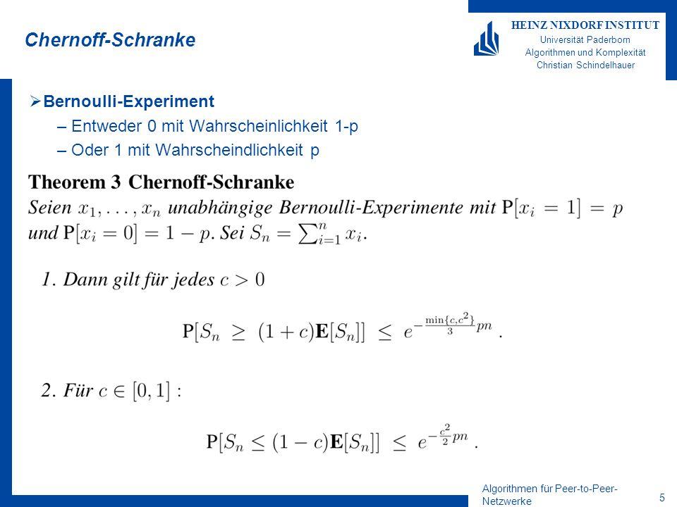 Chernoff-Schranke Bernoulli-Experiment