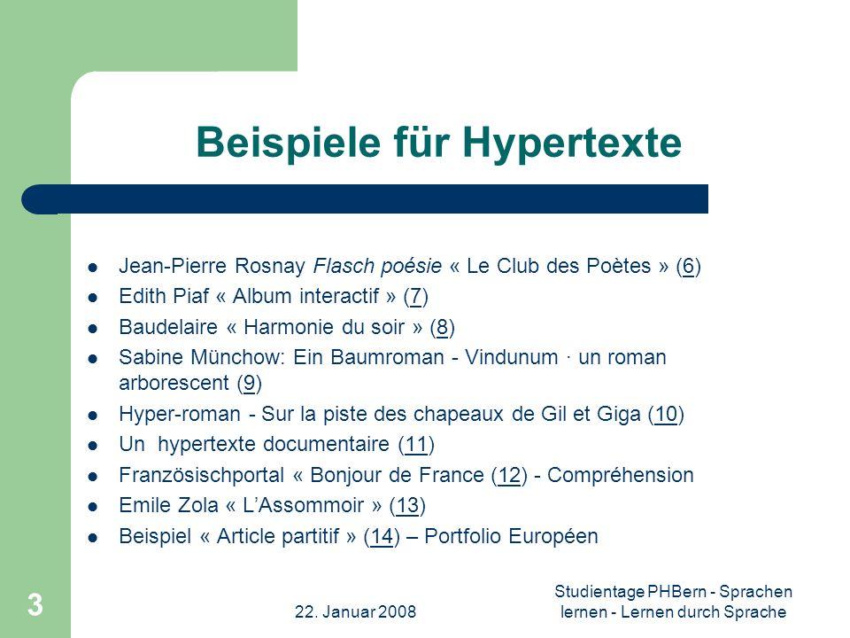 Beispiele für Hypertexte