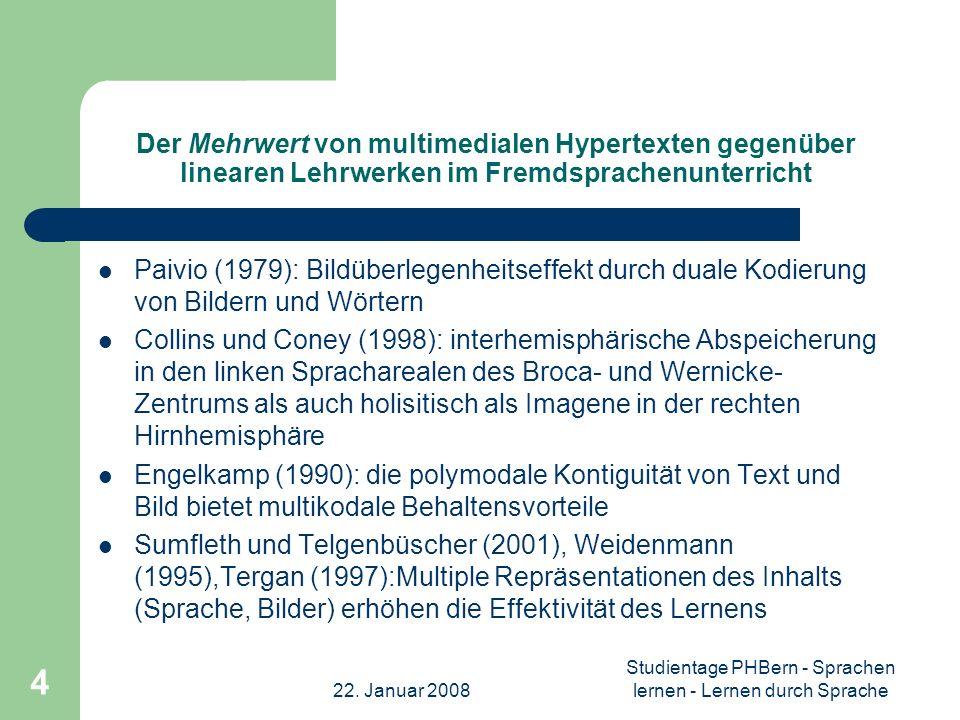 Studientage PHBern - Sprachen lernen - Lernen durch Sprache