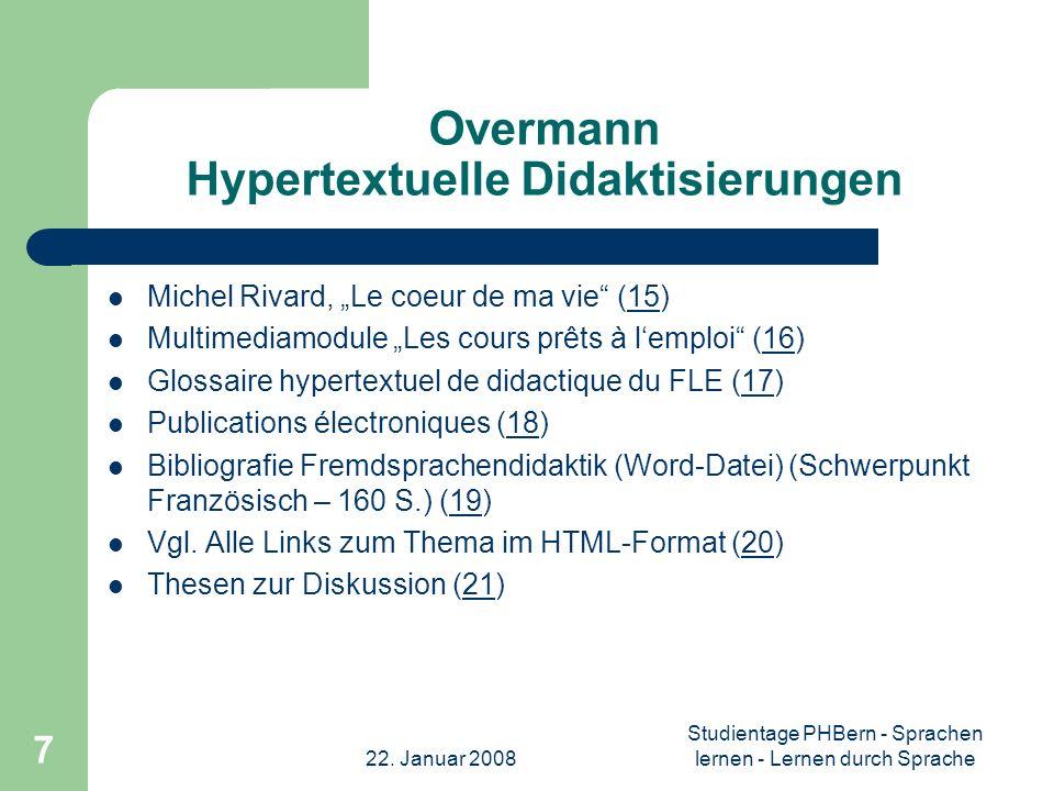 Overmann Hypertextuelle Didaktisierungen