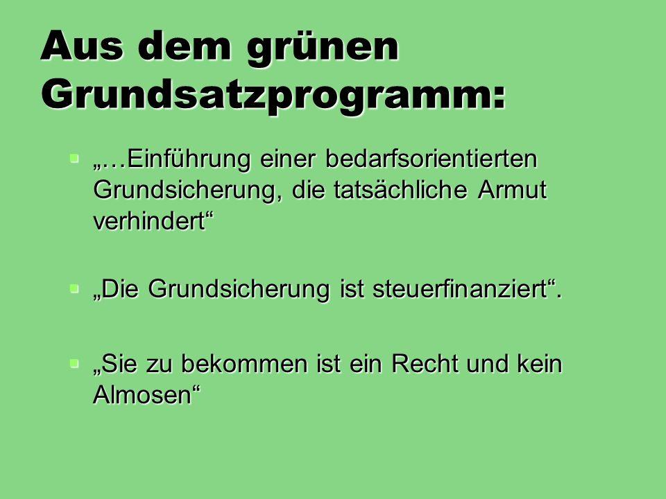 Aus dem grünen Grundsatzprogramm: