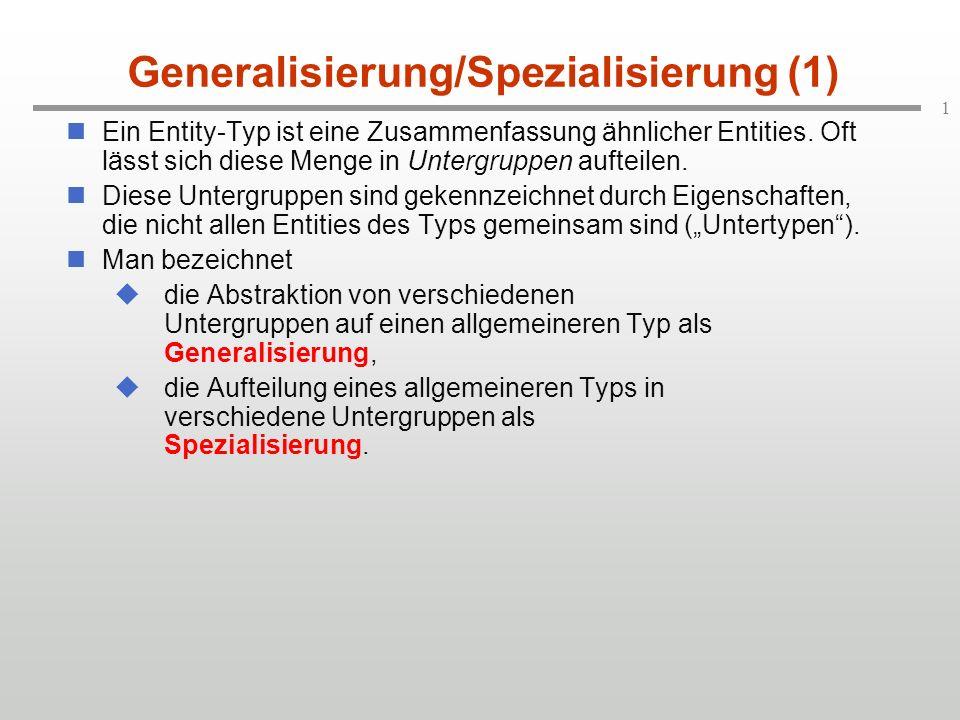 Generalisierung/Spezialisierung (1)