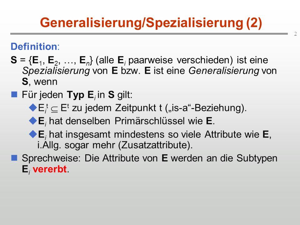 Generalisierung/Spezialisierung (2)