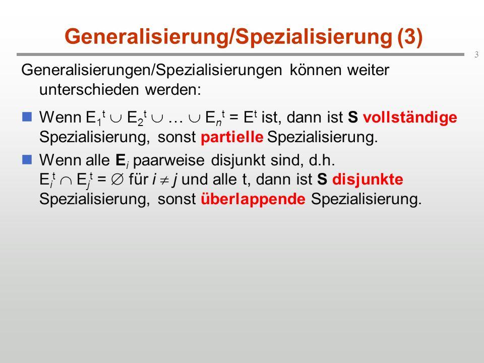 Generalisierung/Spezialisierung (3)