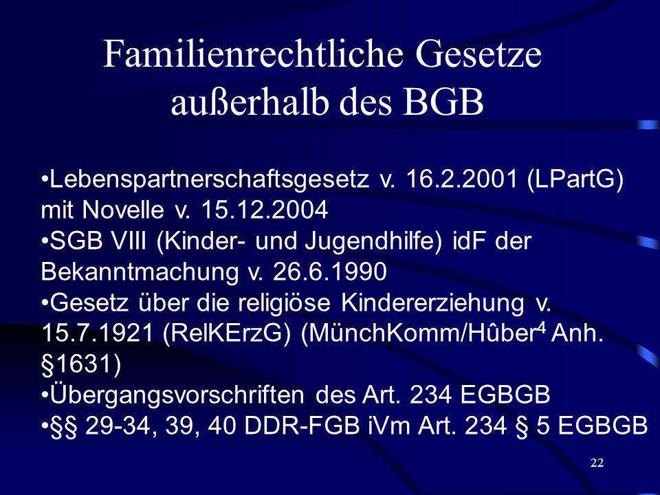 Familienrechtliche Gesetze
