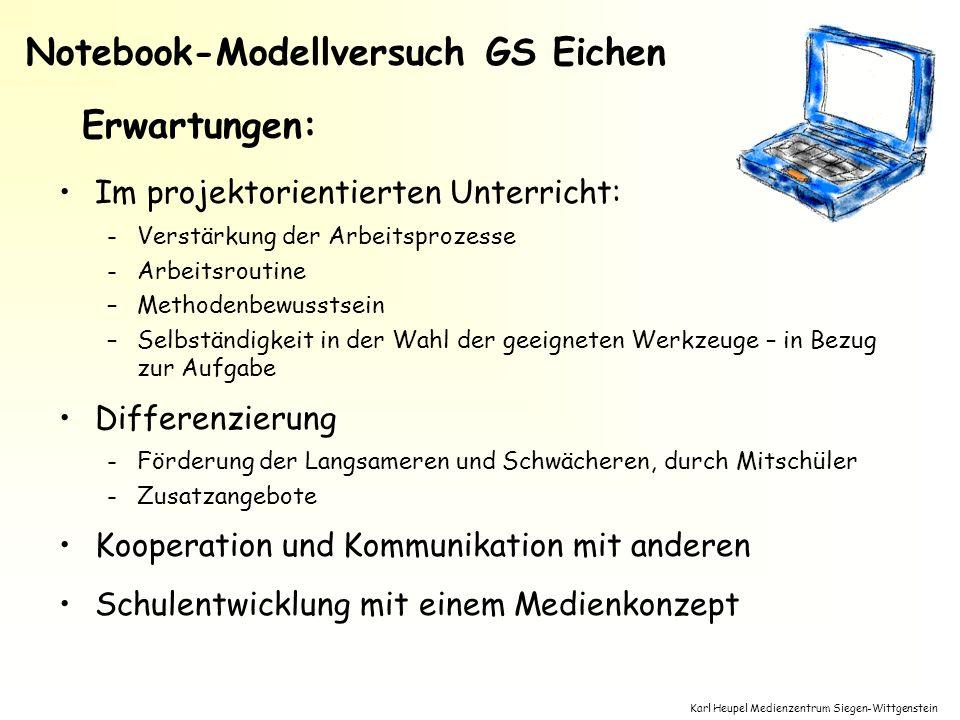 Notebook-Modellversuch GS Eichen