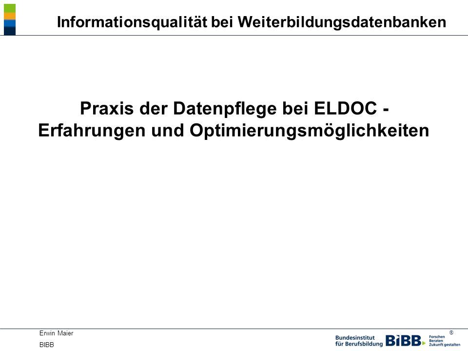 Informationsqualität bei Weiterbildungsdatenbanken