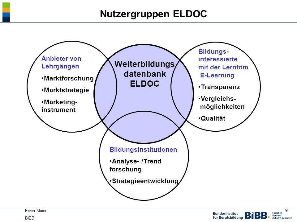 Weiterbildungsdatenbank ELDOC