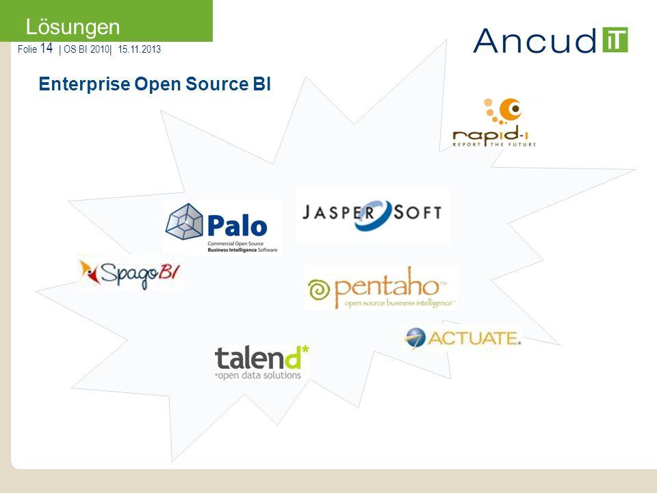 Enterprise Open Source BI