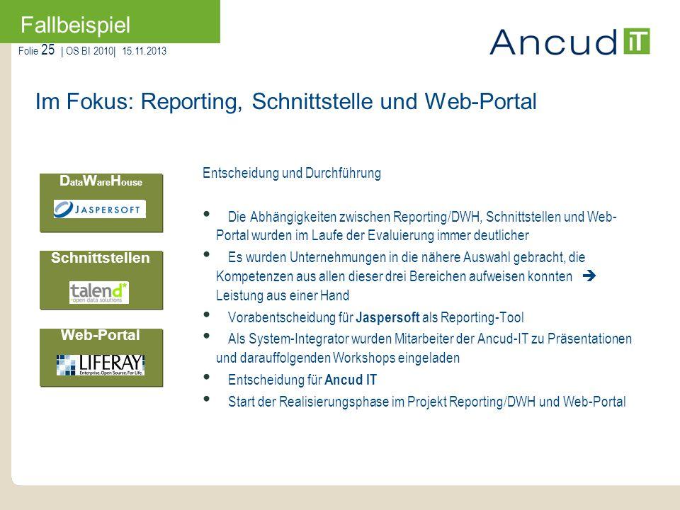 Im Fokus: Reporting, Schnittstelle und Web-Portal