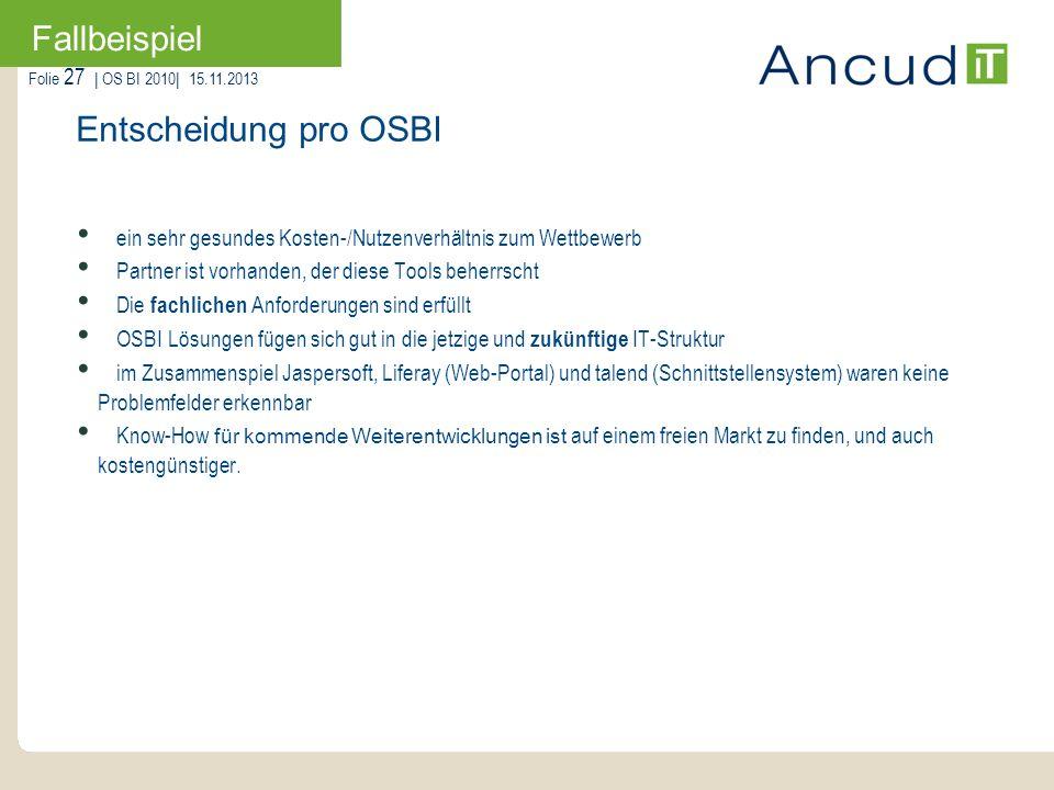 Fallbeispiel Entscheidung pro OSBI