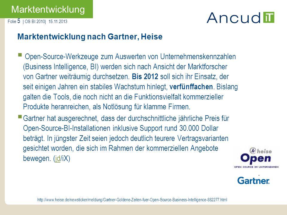 Marktentwicklung nach Gartner, Heise
